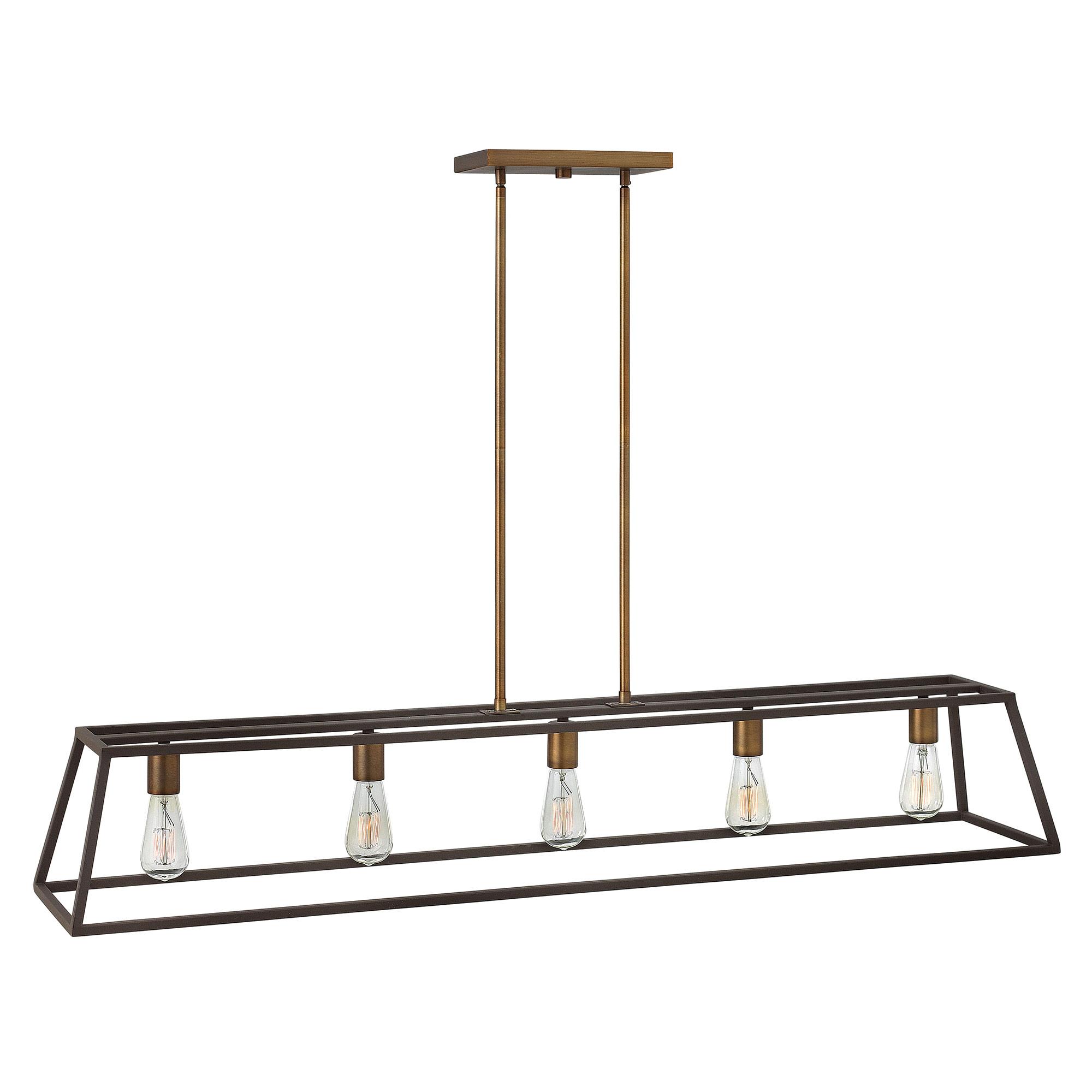 linear chandelier by hinkley lighting  bz - fulton linear chandelier by hinkley lighting  bz