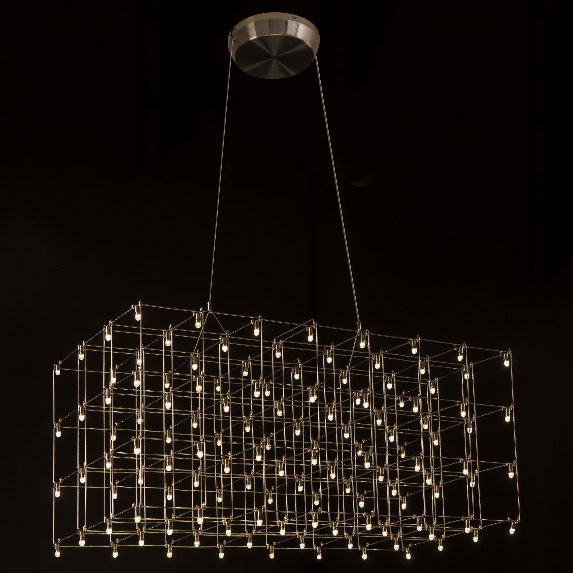 Rectangle Suspension by Edge Lighting  UNIV34X15L1SN
