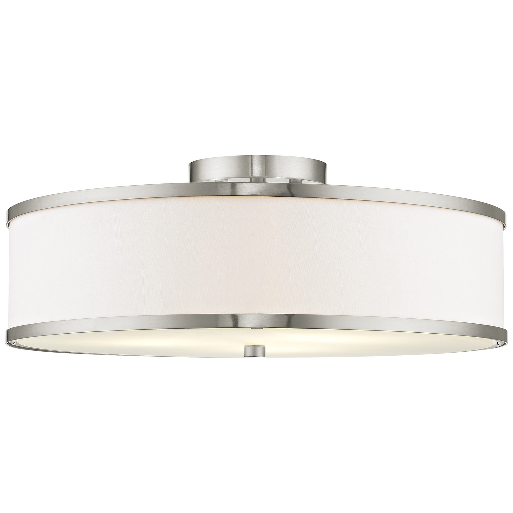 Park Ridge White Semi Flush Ceiling By Livex Lighting