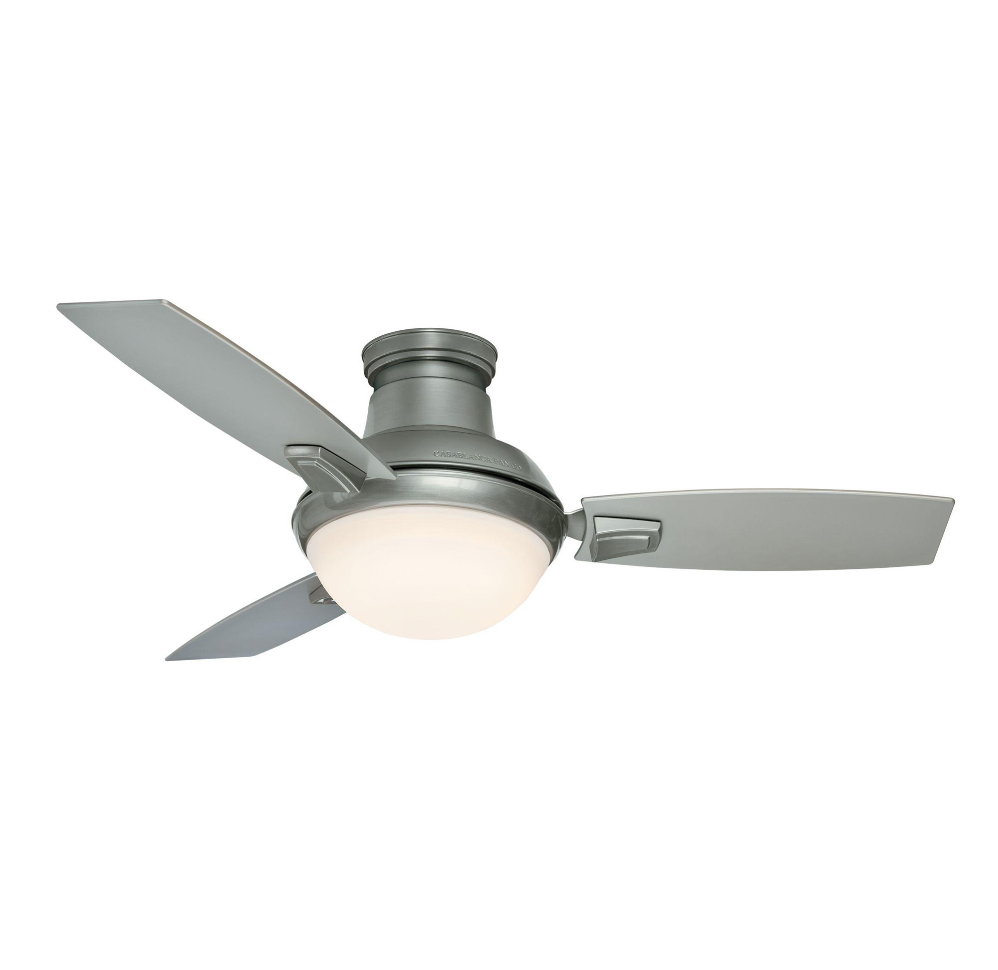 44 ceiling fan with light brushed nickel verse 44 inch led ceiling fan by casablanca 59155