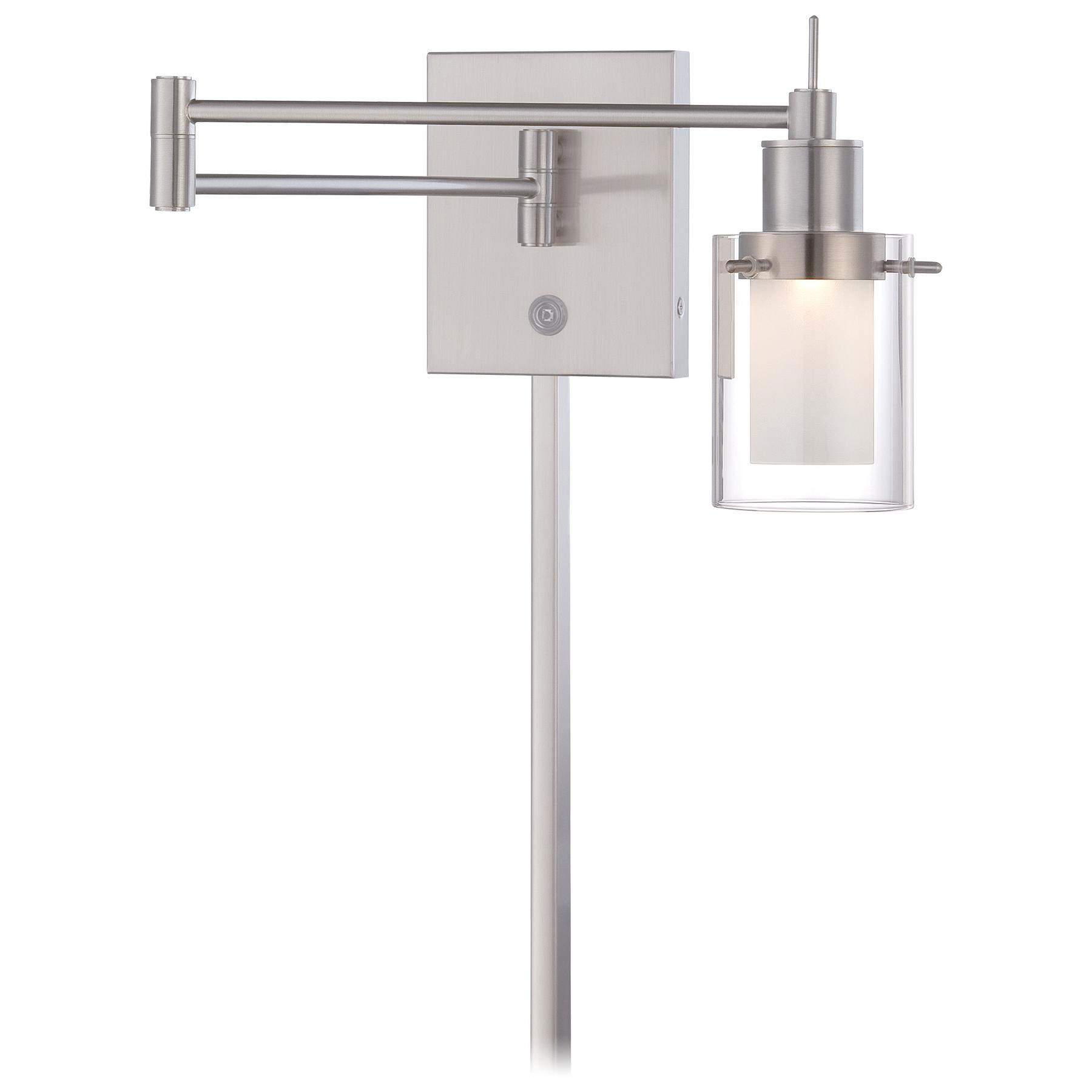 p4511 led swing arm wall sconce by george kovacs p4511084