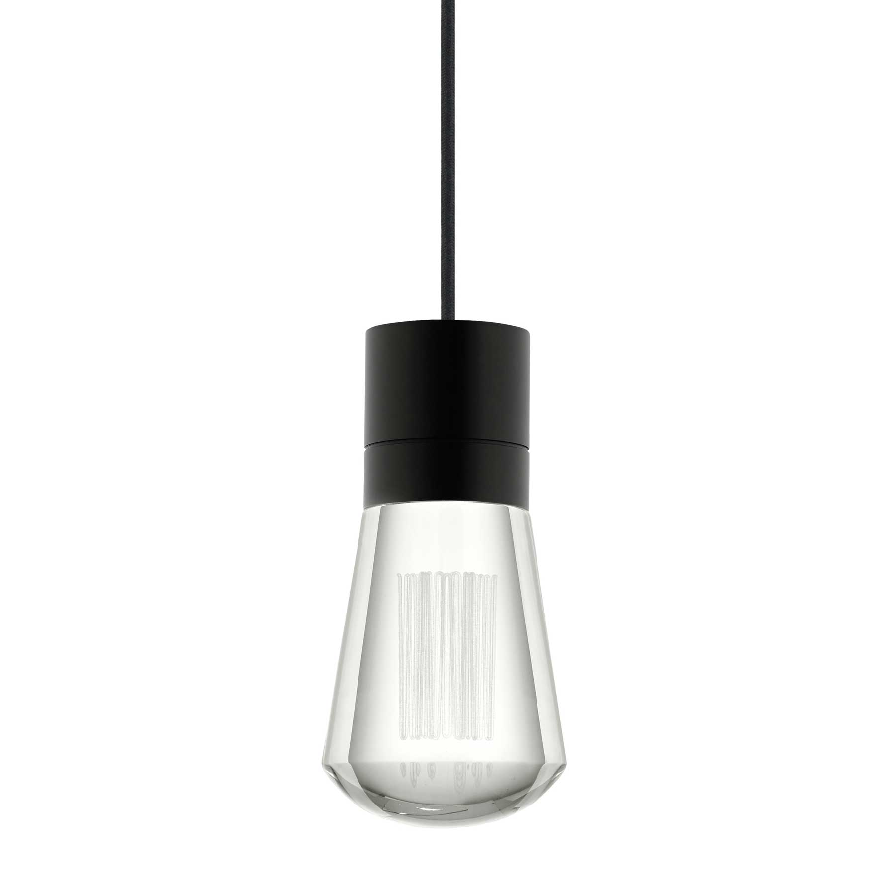 black in concrete matteo pendant light