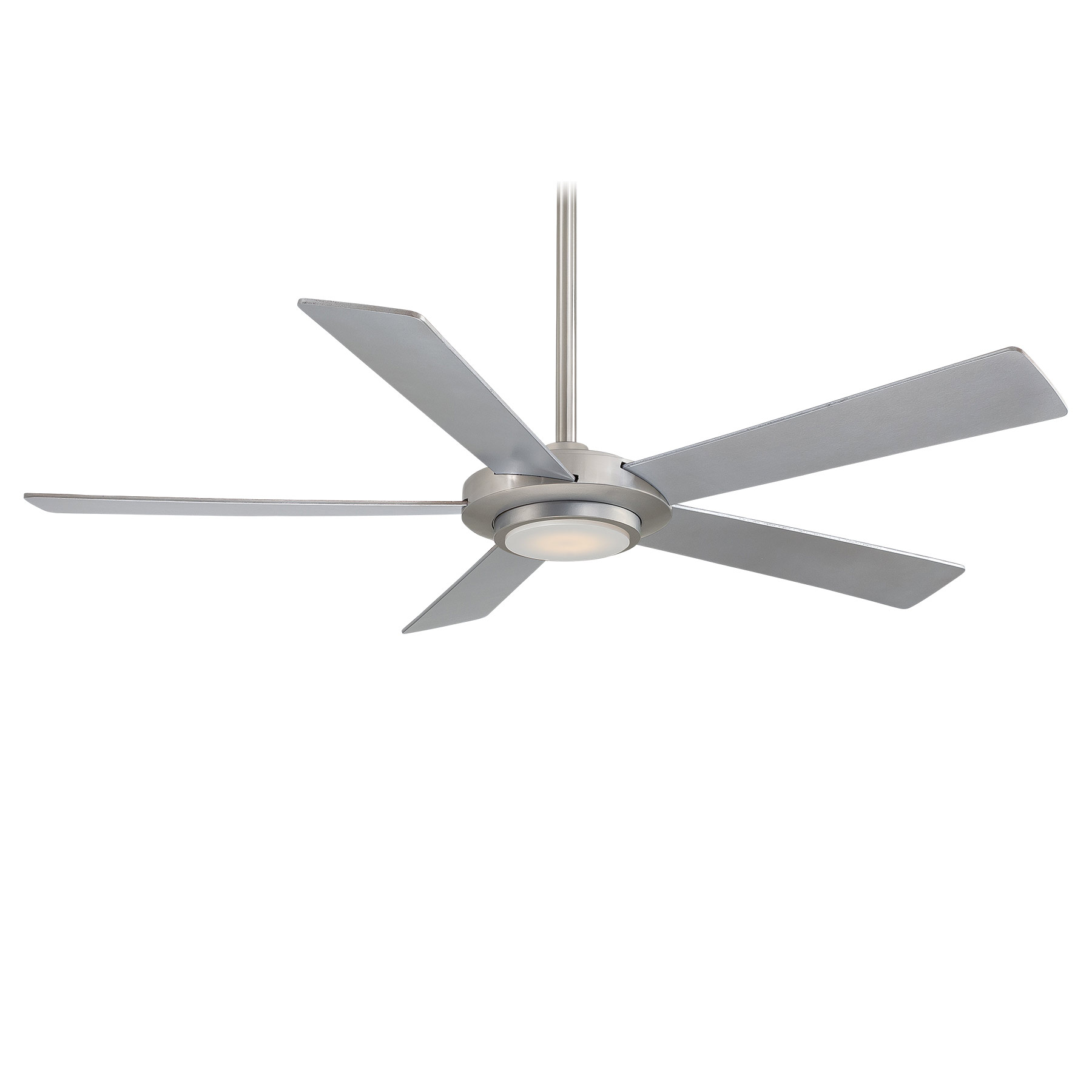 sabot ceiling fan with light by minka aire f745bn - Flush Mount Ceiling Fans