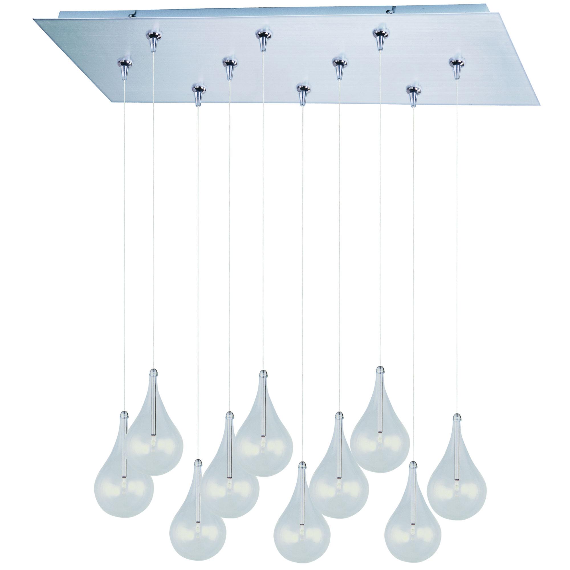 Larmes Multi Light Rapid Jack Pendant With Rectangle Canopy By Et2 E93910 18sn