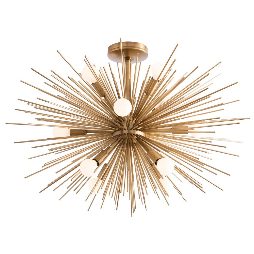 Zanadoo semi flush ceiling light fixture by arteriors home ah 89967