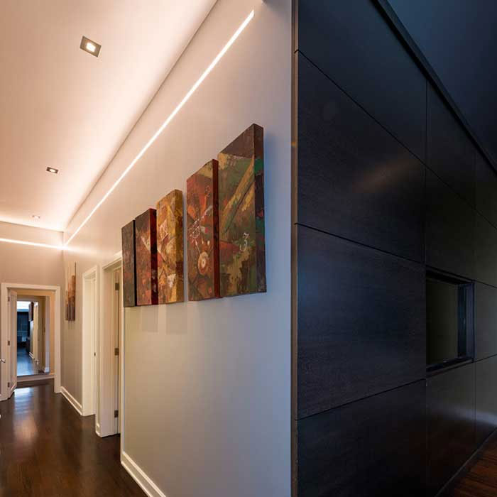 Gregory Cove Apartments: Reveal Variable White Cove/Pathway Plaster-In LED System