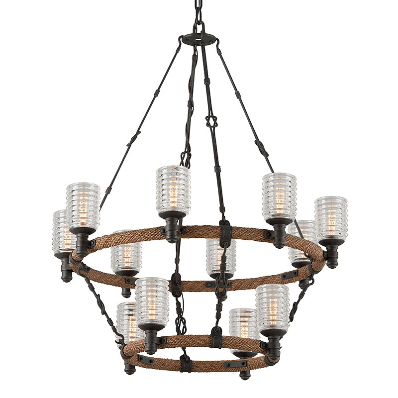 Embarcadero two tier chandelier by troy lighting f4158 embarcadero two tier chandelier download image embarcadero aloadofball Gallery