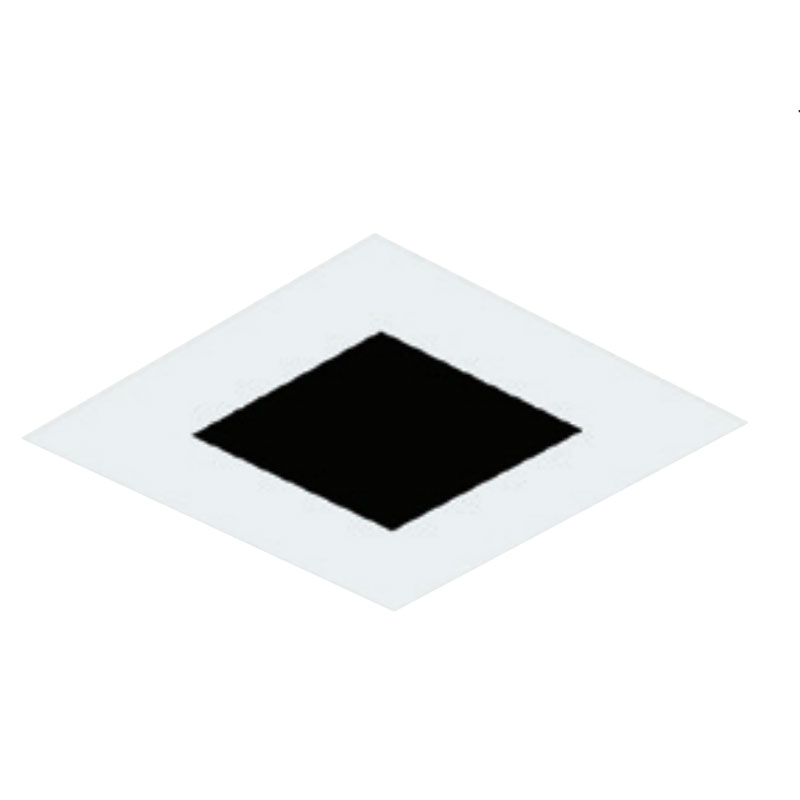Inch Square Flangeless Flat Trim by Element by Tech Lighting