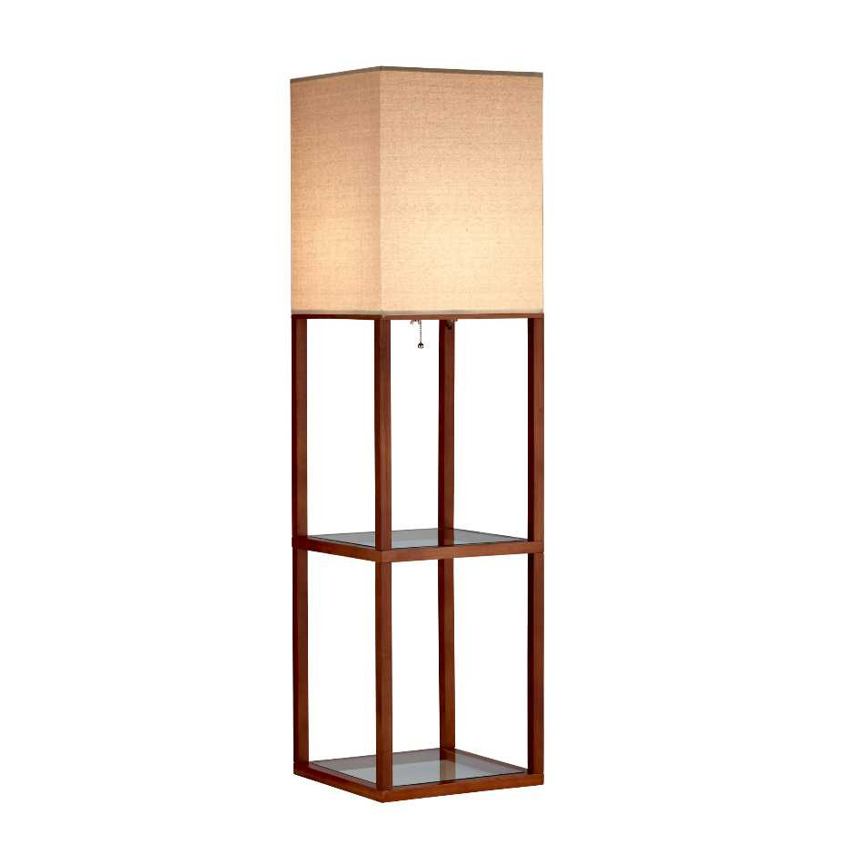 Crowley shelf floor lamp by adesso corp 3317 15 for Floor lamp with shelves