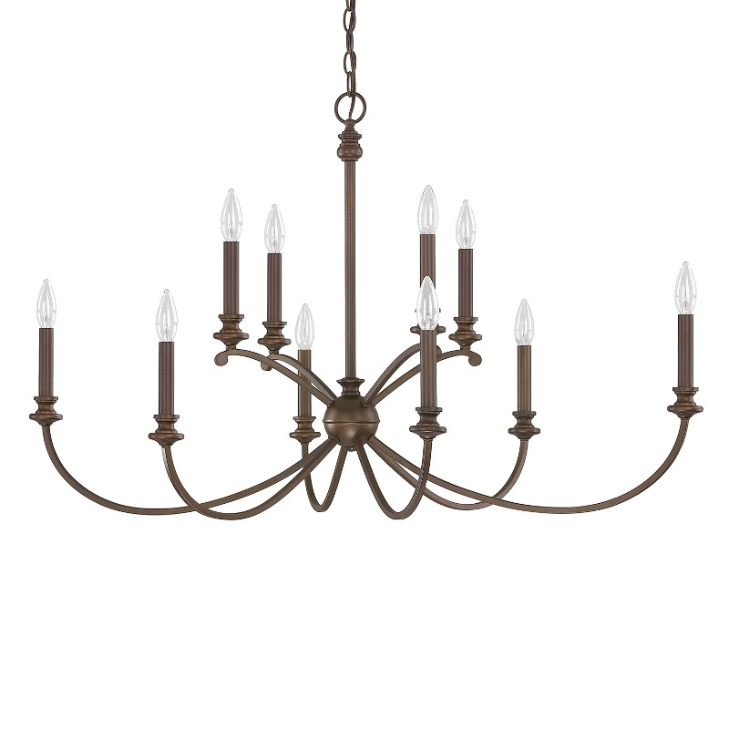 Alexander 10 light chandelier by capital lighting 4748bb 000