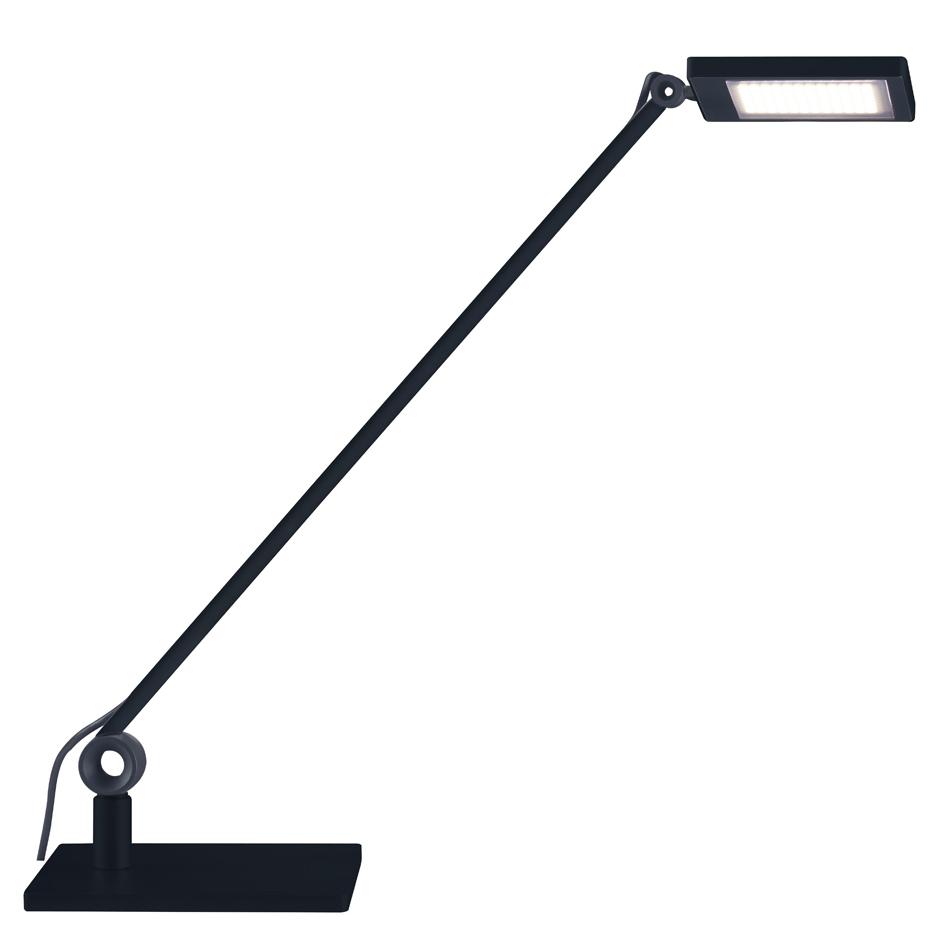 Para Mi Square Single Arm Desk Lamp By Waldmann Lighting Lc Parami S Sq Bk 40k