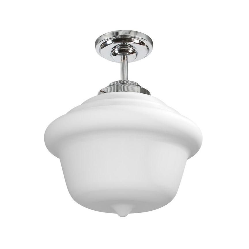schoolhouse led ceiling semi flush mount by stone lighting. Black Bedroom Furniture Sets. Home Design Ideas