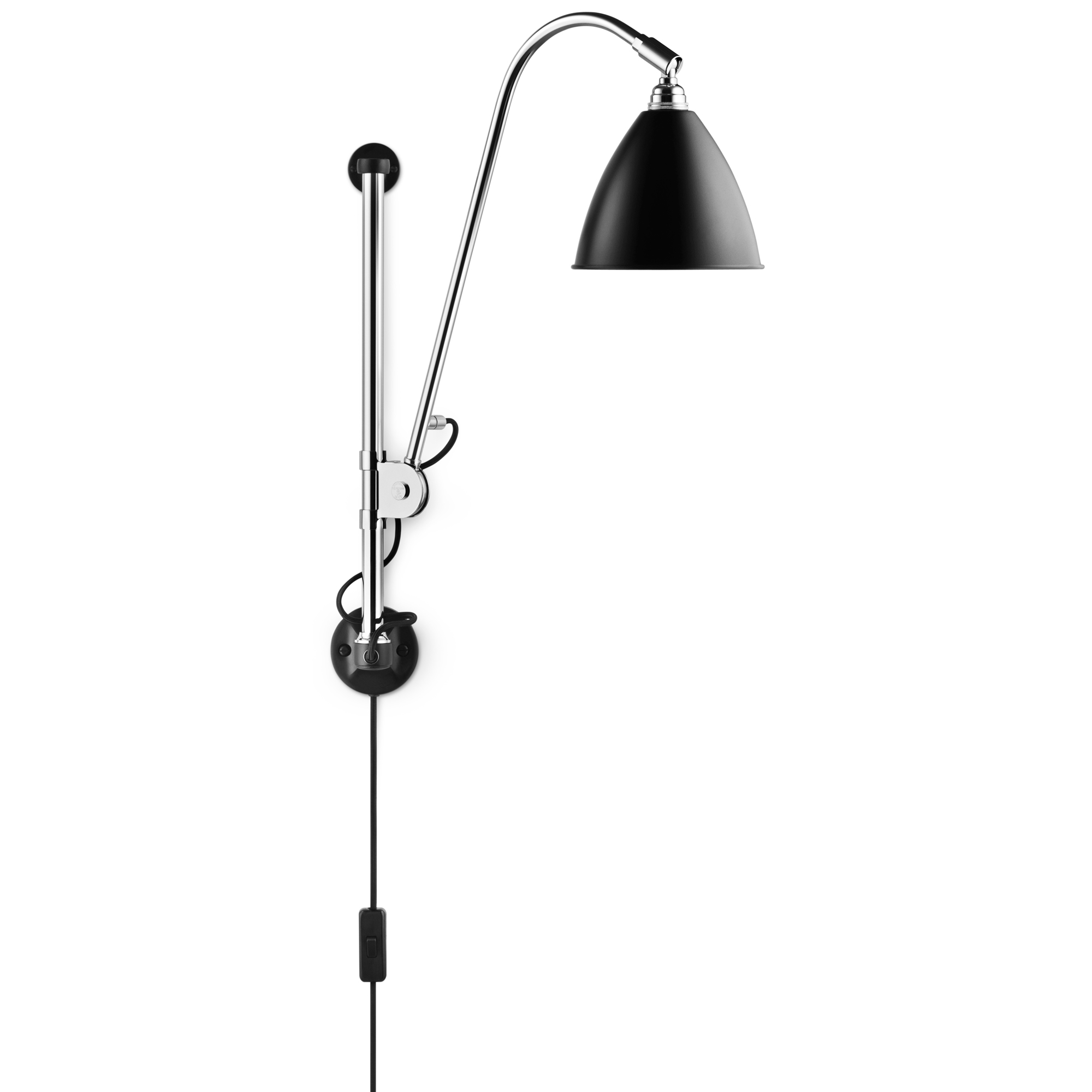 bestlite bl5 swing arm plug in wall sconce by gubi