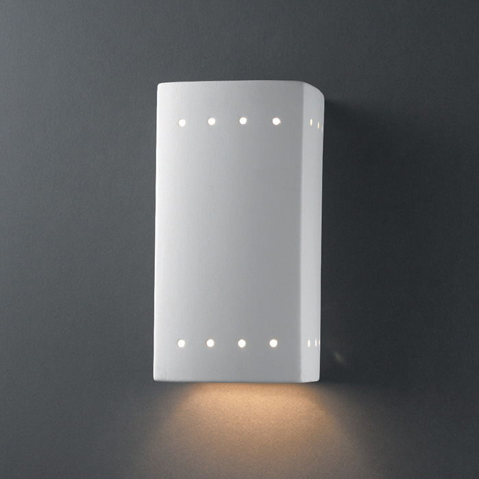 downlight wall sconce outdoor outdoor perforated rectangle downlight wall sconce by justice design
