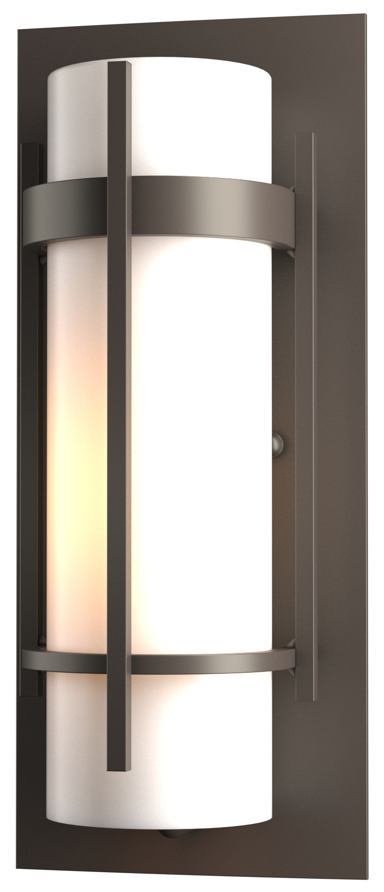 outdoor wall sconce by hubbardton forge   - banded  outdoor wall sconce by hubbardton forge