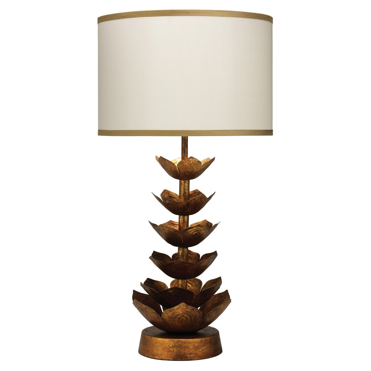 flowering lotus table lamp by jamie young company 1flow tlgo 2drum