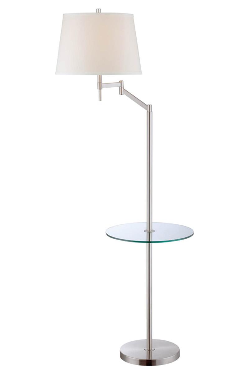 Eveleen Swing Arm Floor Lamp With Shelf By Lite Source Inc Ls 82139