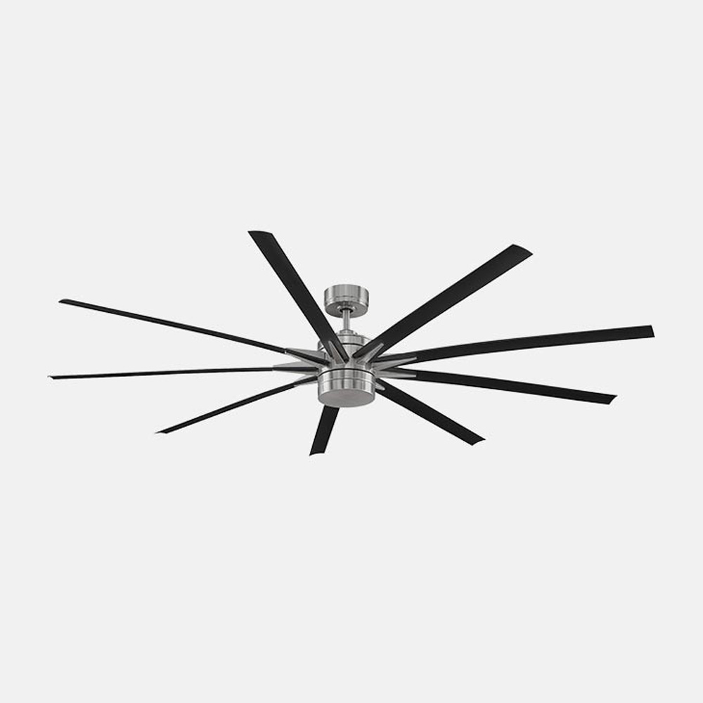 Indoor/Outdoor Ceiling Fan with Light by Fanimation | FPD8149BNWBL