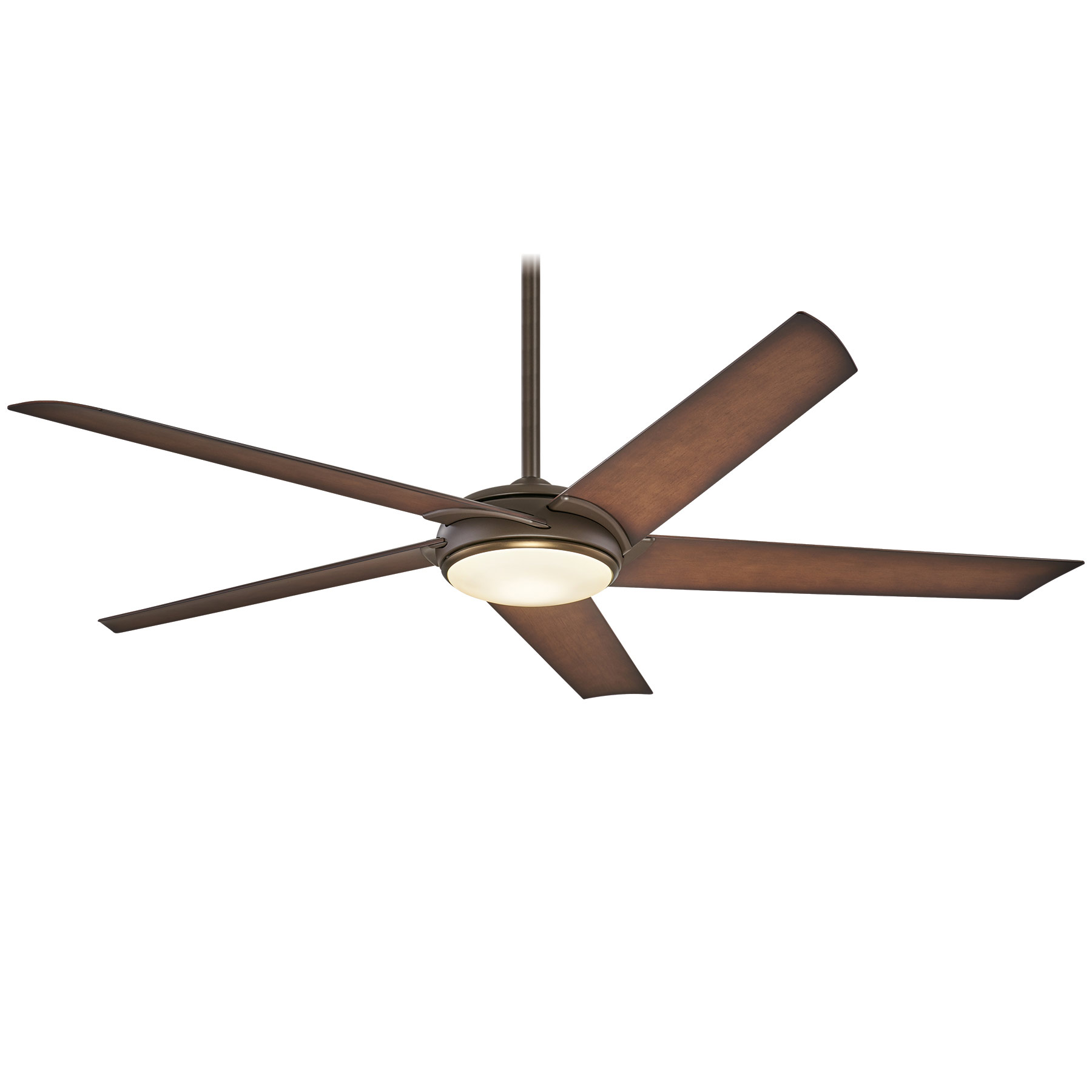 Ceiling Fan with Light by Minka Aire | F617L-ORB/AB:Raptor Ceiling Fan with Light by Minka Aire | F617L-ORB/AB,Lighting