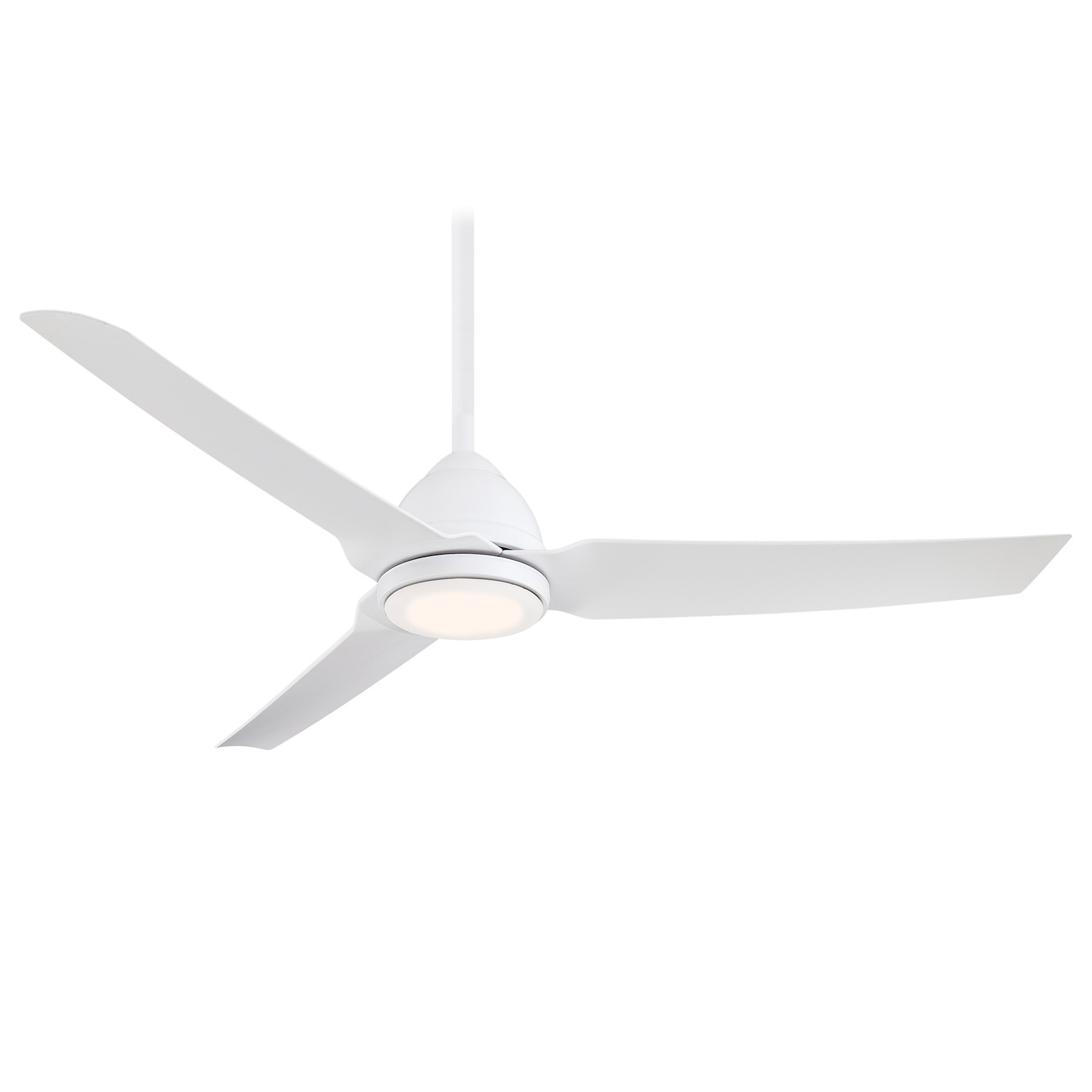 java ceiling fan with light by minka aire f753lwhf - Minka Ceiling Fans