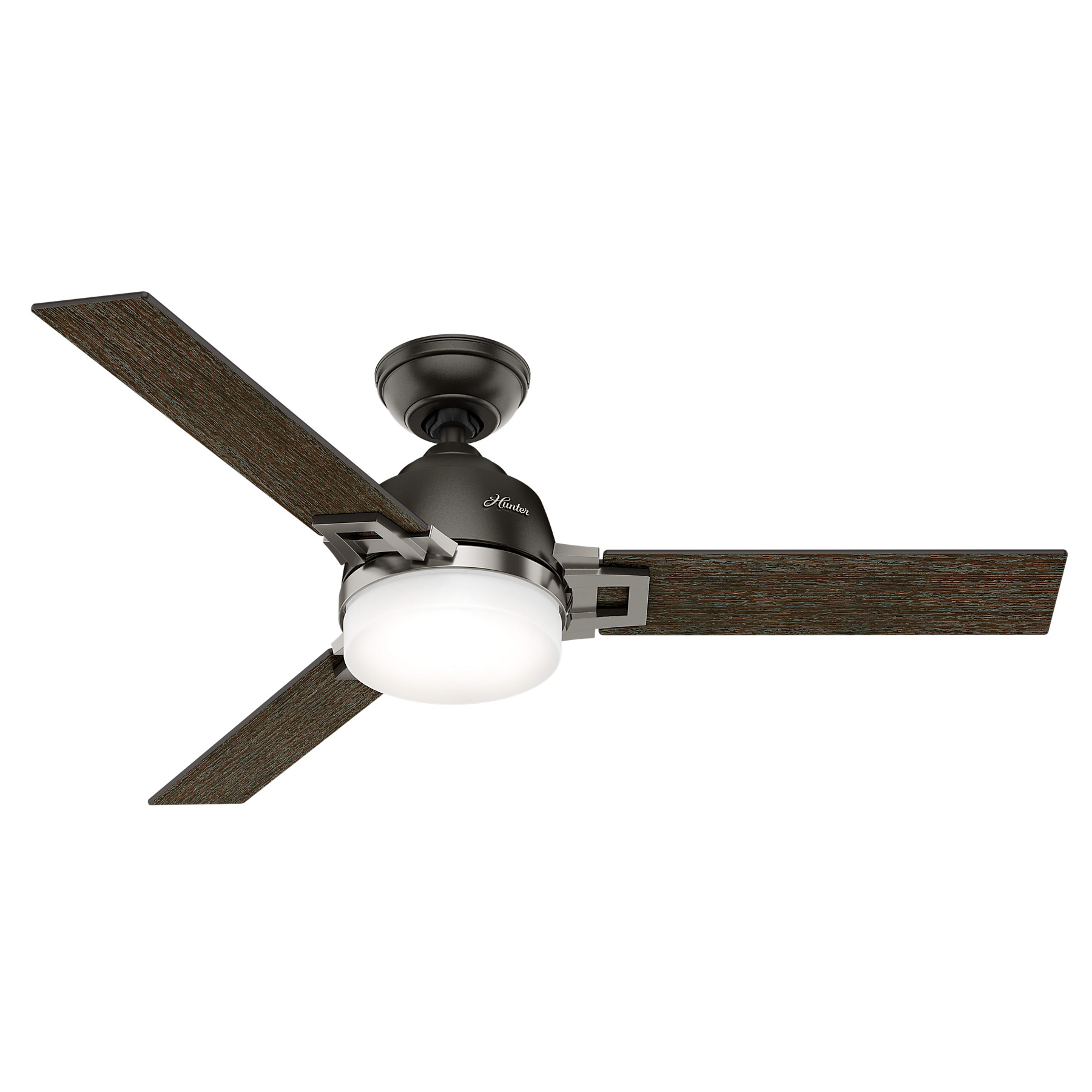 finish cfm noveau ceiling hunter brass burnished capitol fan frosted inch image magnifying art blade clear item in glass fans and shown