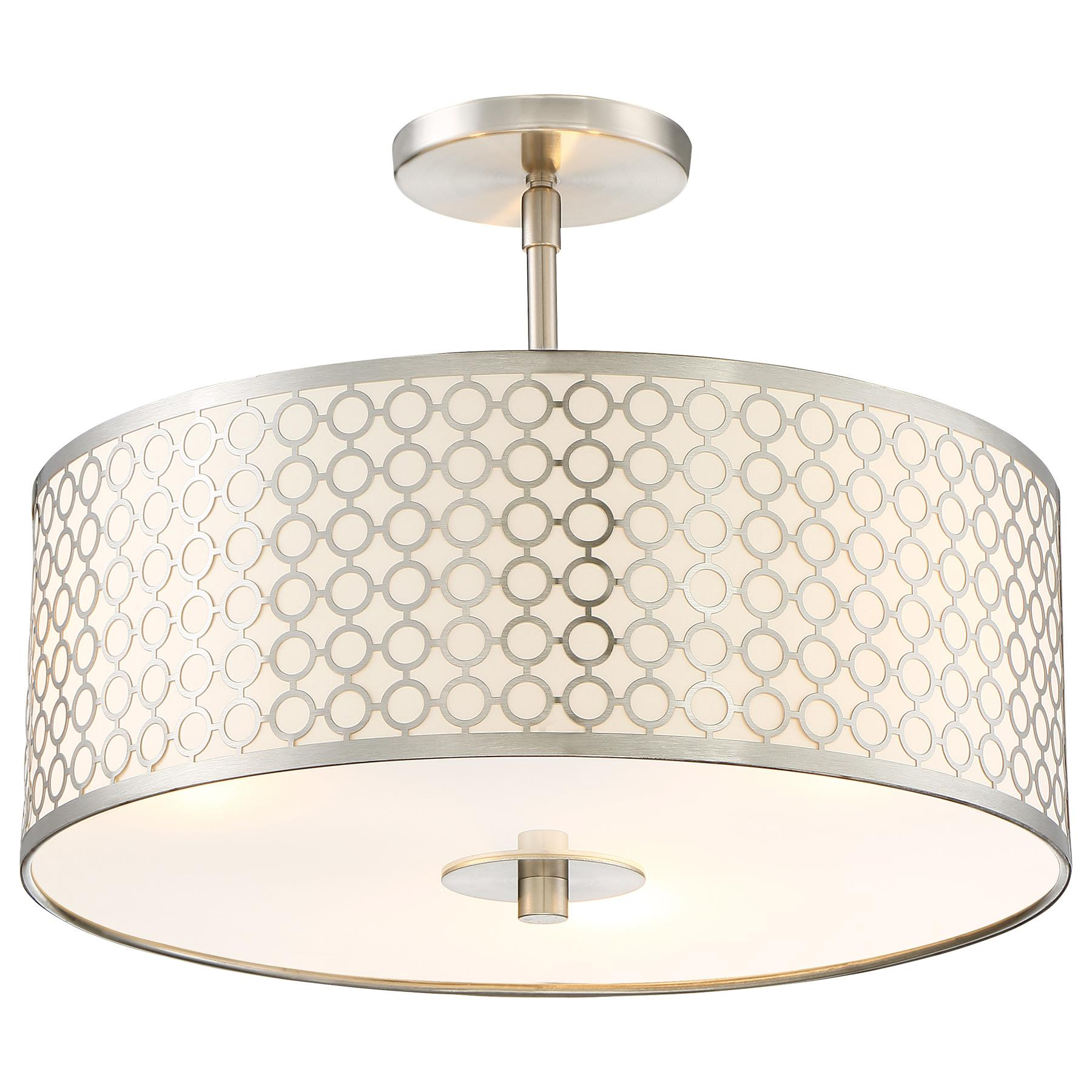 lighting depot circular integrated flushmount ceiling flush n light decorators lights the brushed collection home patterned led b semi with nickel