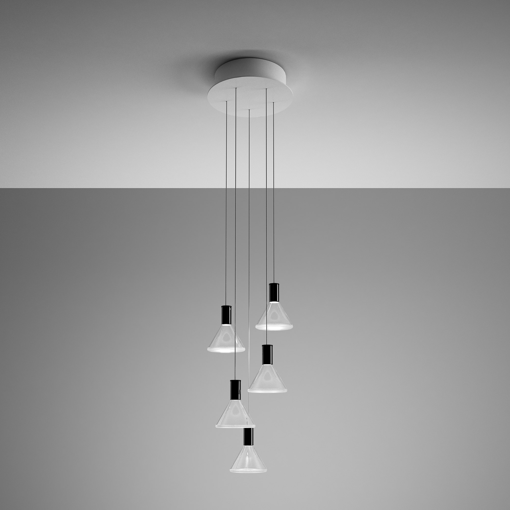 Polair Round Canopy Multi Light Pendant By Fabbian F32a42 A 00