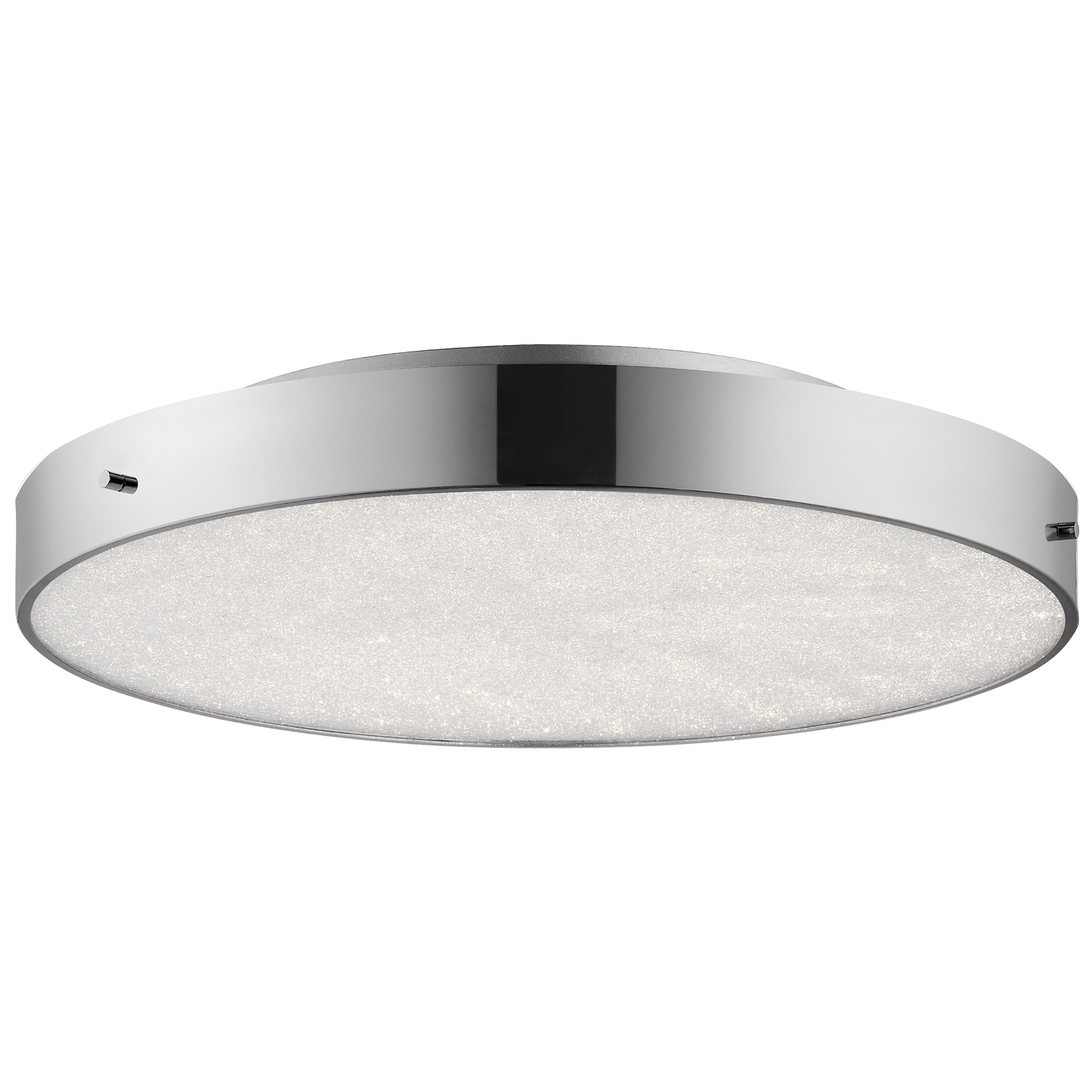 Crystal moon round ceiling light fixture by elan