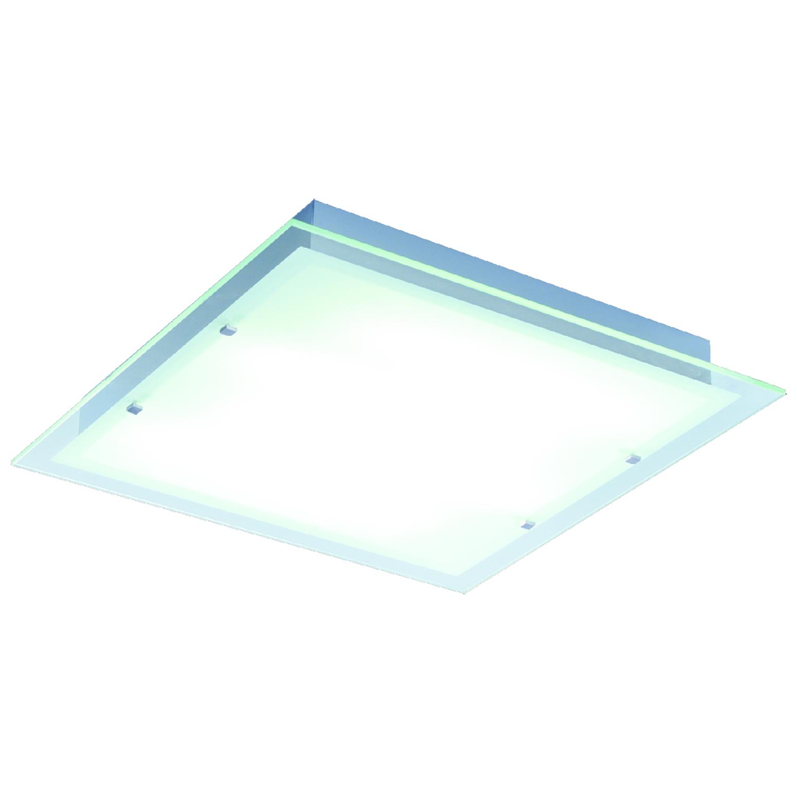 Contempra square ceiling light fixture by et2 e22120 24al
