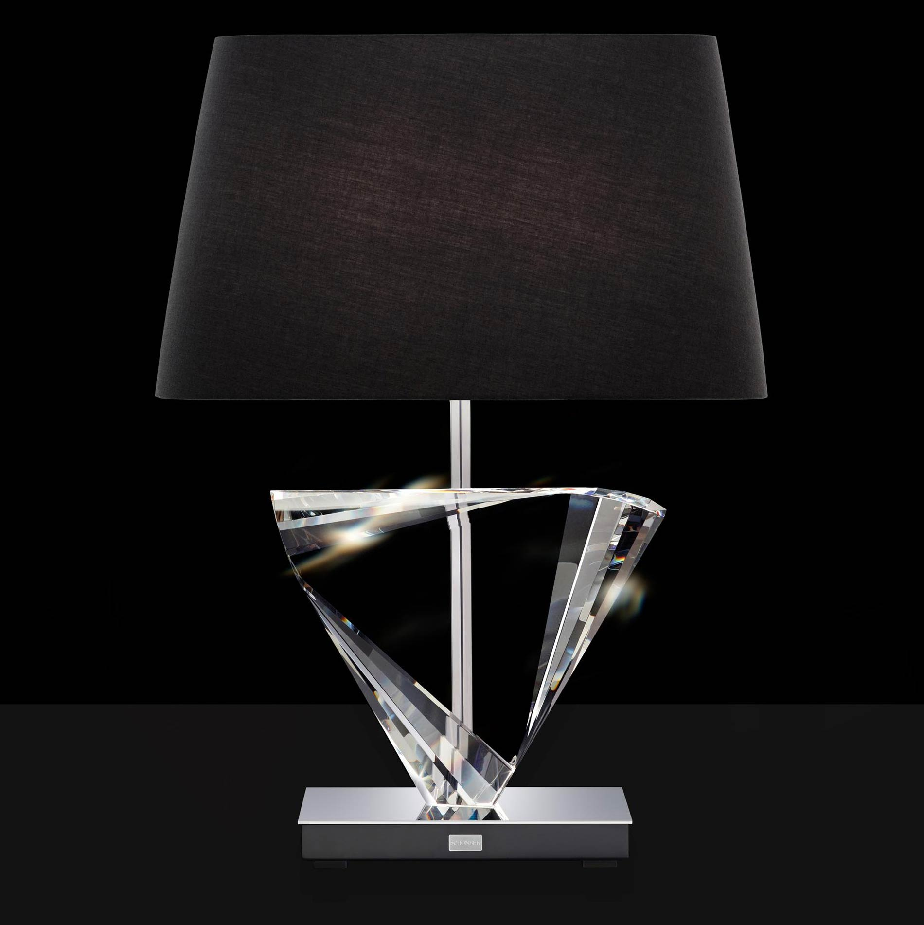Boutique triangle table lamp by schonbek bl200n 401o2 aloadofball Images