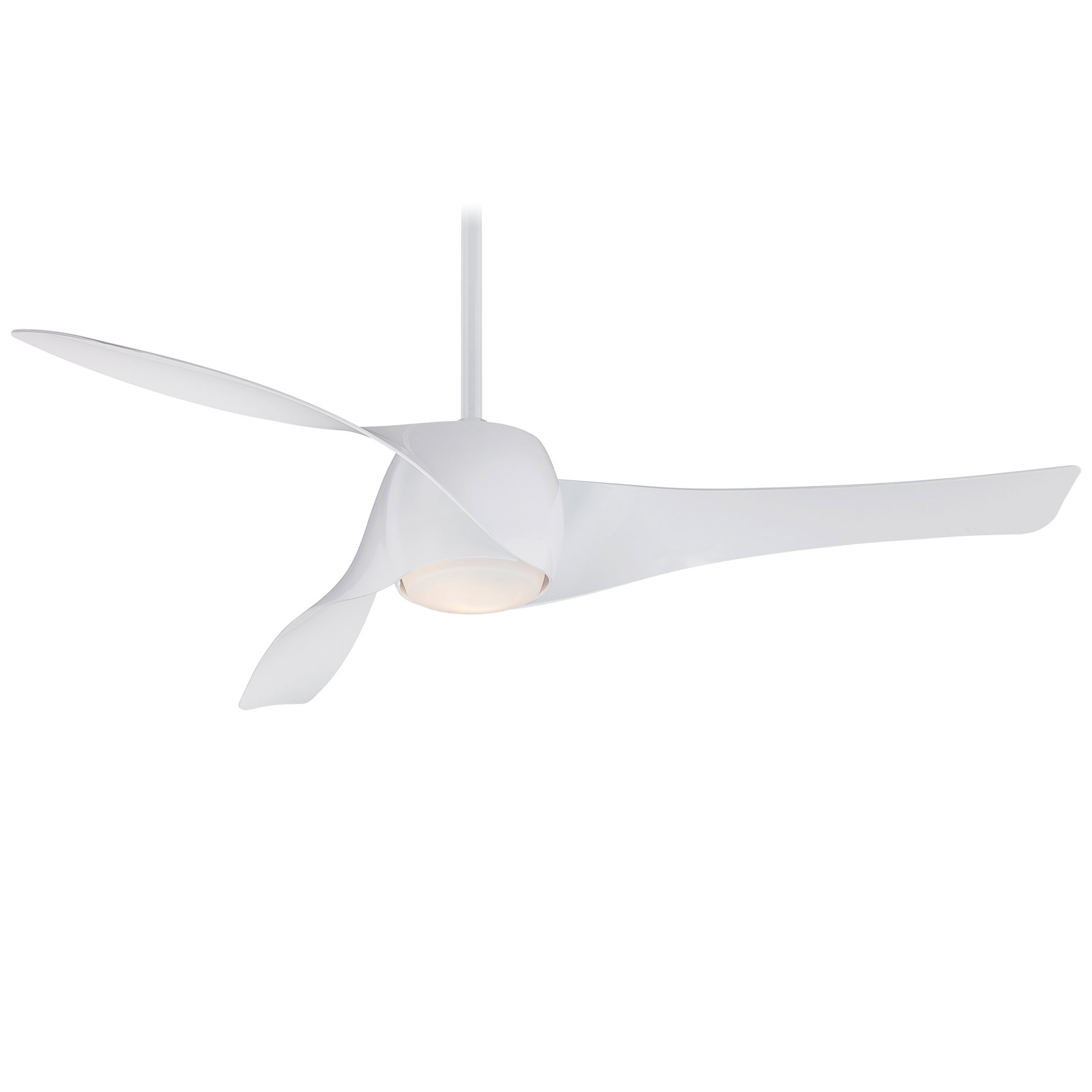 shade fans wet bnw nickel ceiling minka l brushed fan inch aire