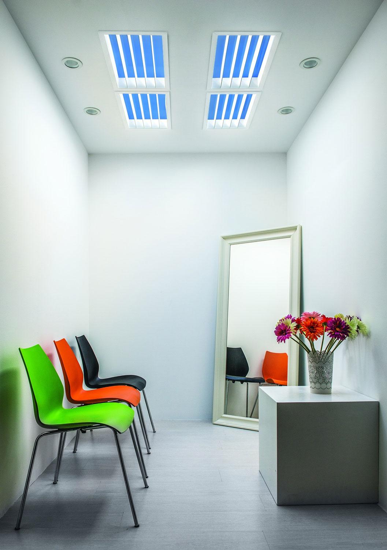 skylight lighting. ST Tivano Linear Artificial Skylight With Mirror Louver Lighting
