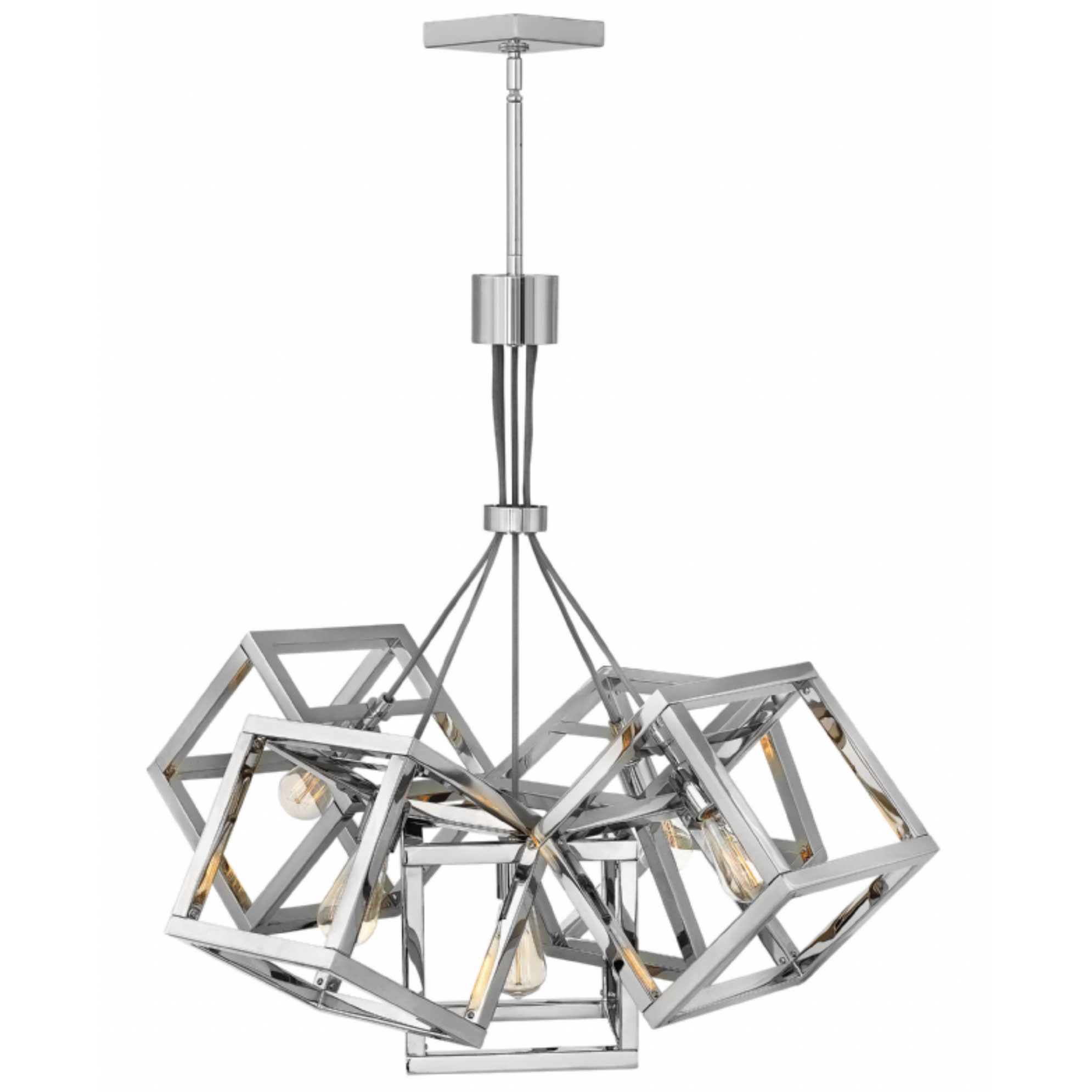 Ensemble Square Shade Chandelier By Fredrick Ramond Fr42444pni