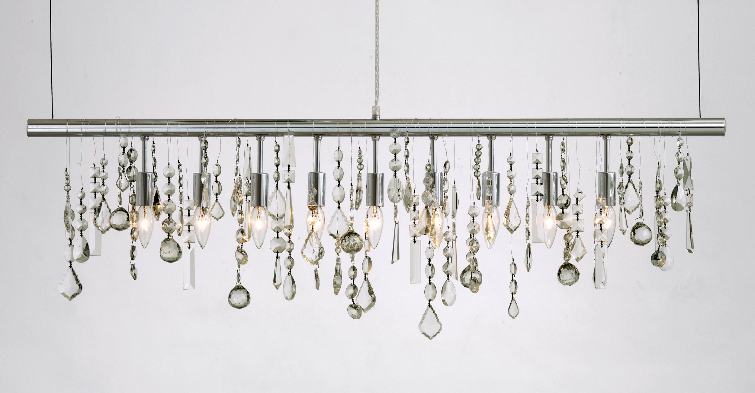 Crystal Linear Suspension By Nuevo Living HGML - Glass chandelier crystals bulk