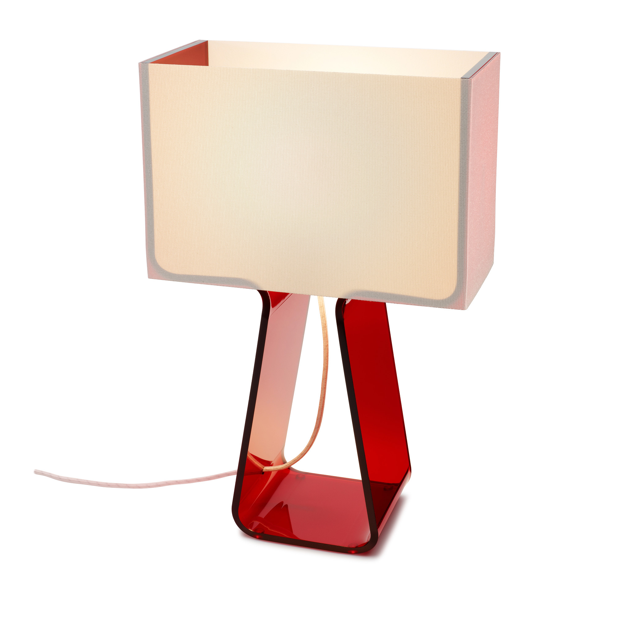 Tube Top Color Table Lamp By Pablo Tt 14 Red