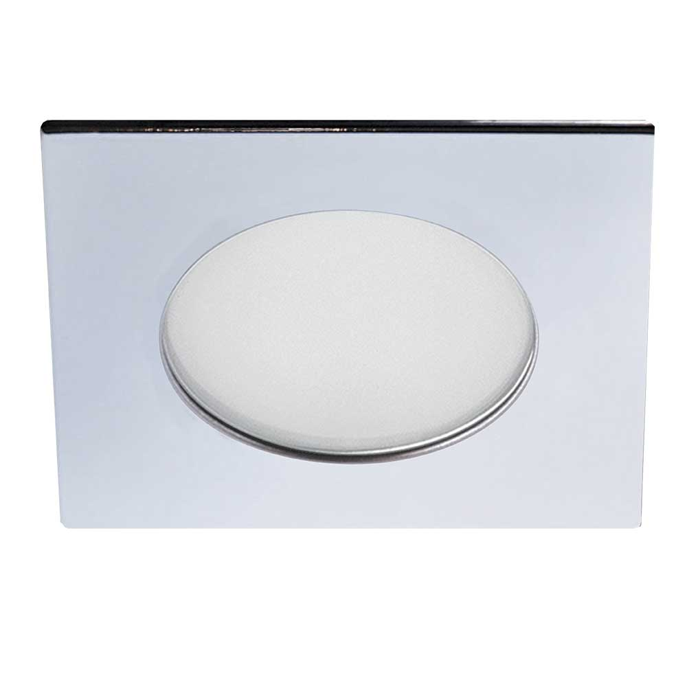 How to replace recessed lighting trim - S3145 3 5 Inch Low Profile Shower Square Trim By Contrast Lighting S3145 04