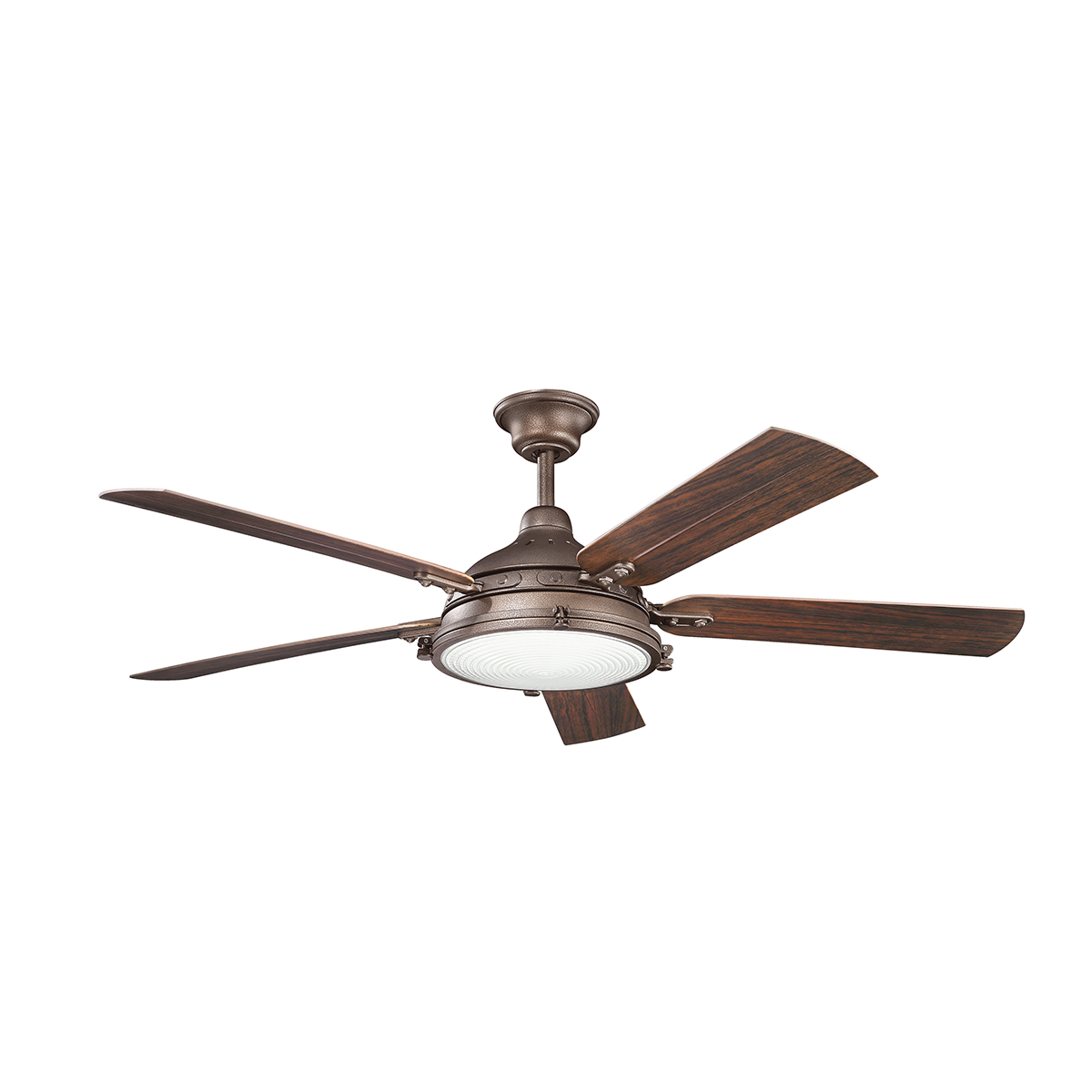 Hatteras bay large outdoor ceiling fan with light by kichler