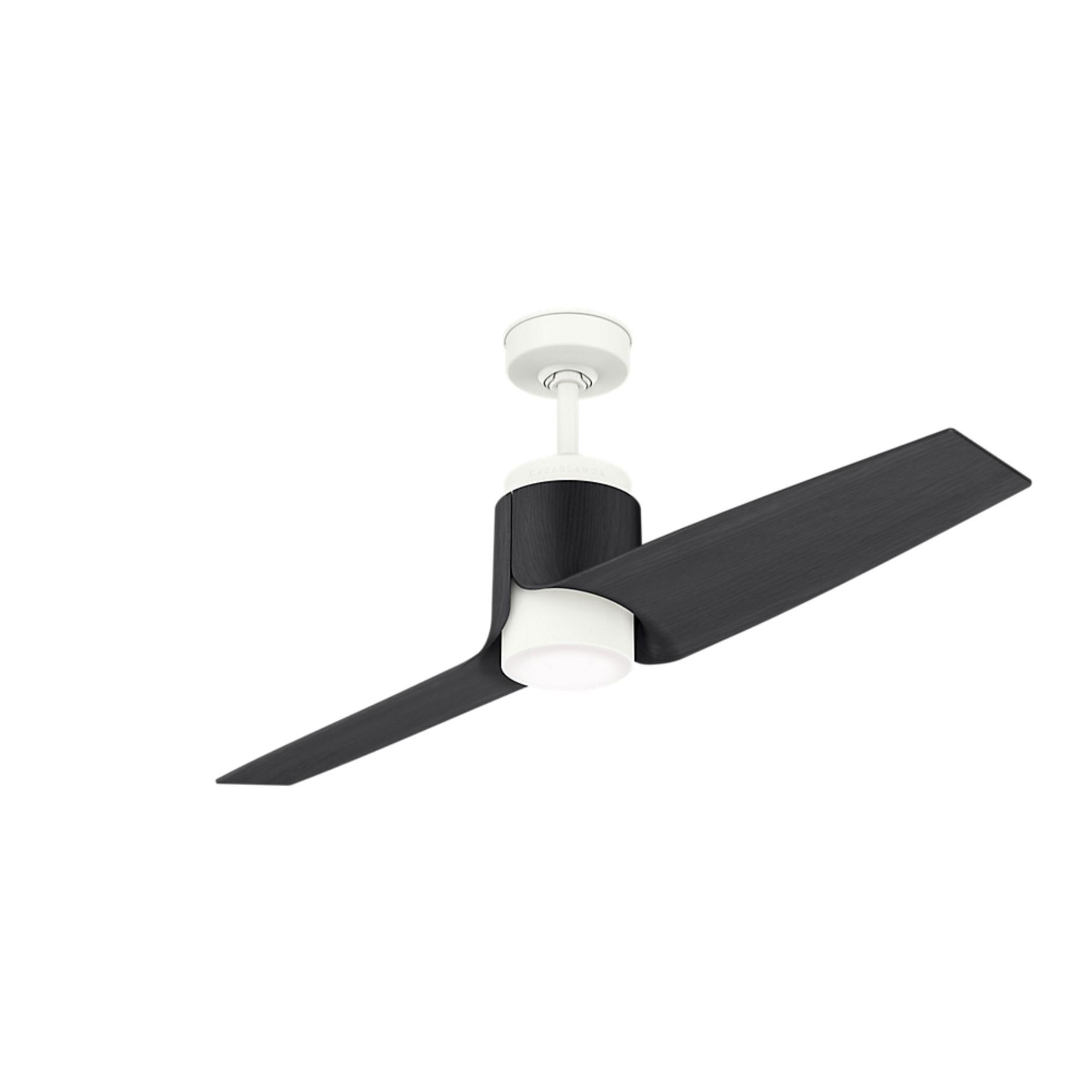 "Casablanca Aya 54"" Ceiling Fan with Black Blades"