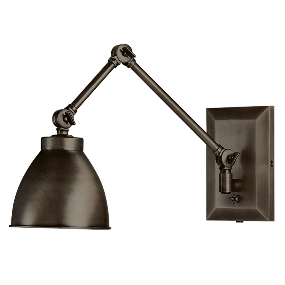 Maggie bronze swing arm wall sconce by norwell lighting 8471 ar ms Beautiful swing arm wall lamps and sconces