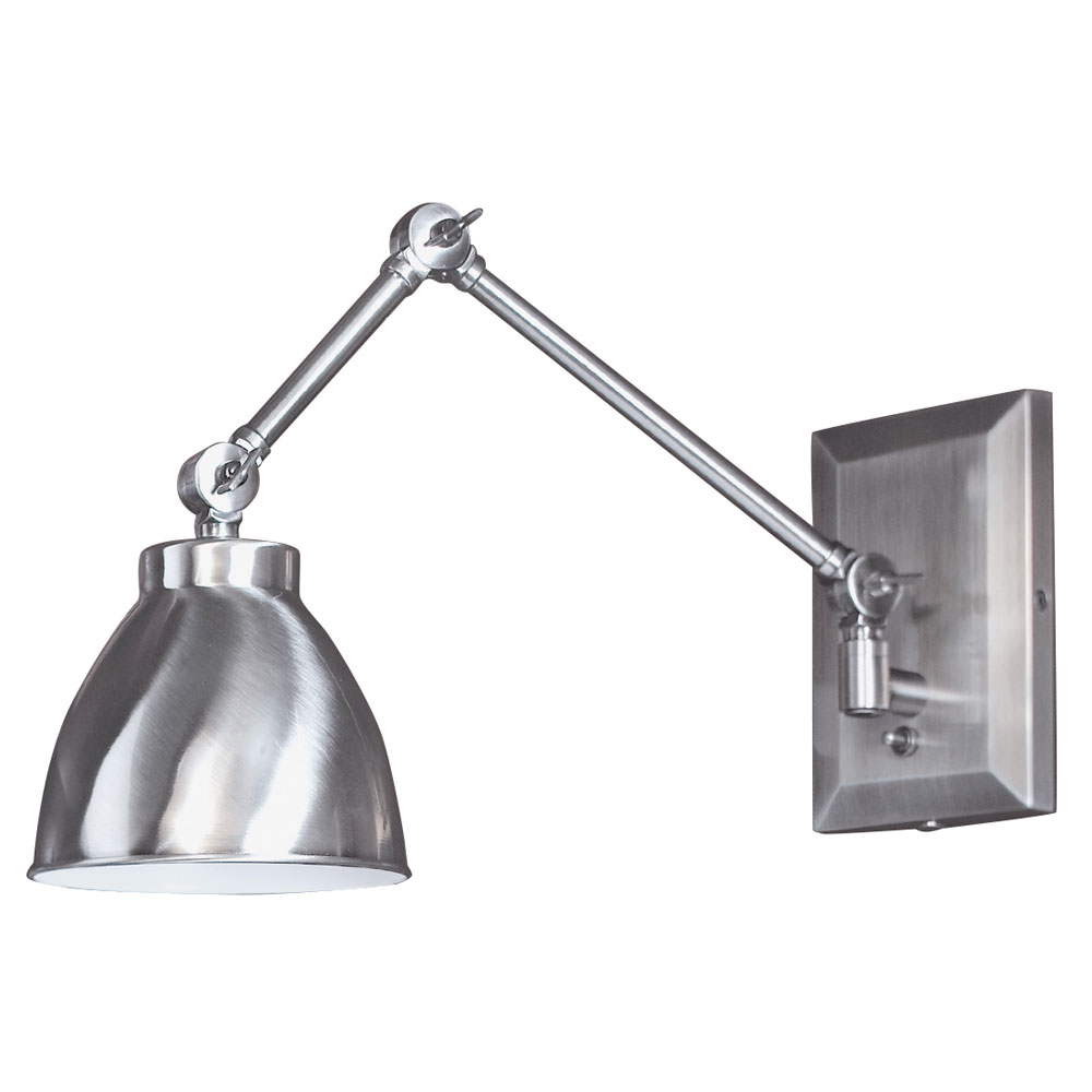 Wall Sconces Swing Arm : Maggie Swing Arm Wall Sconce by Norwell Lighting 8471-pw-ms