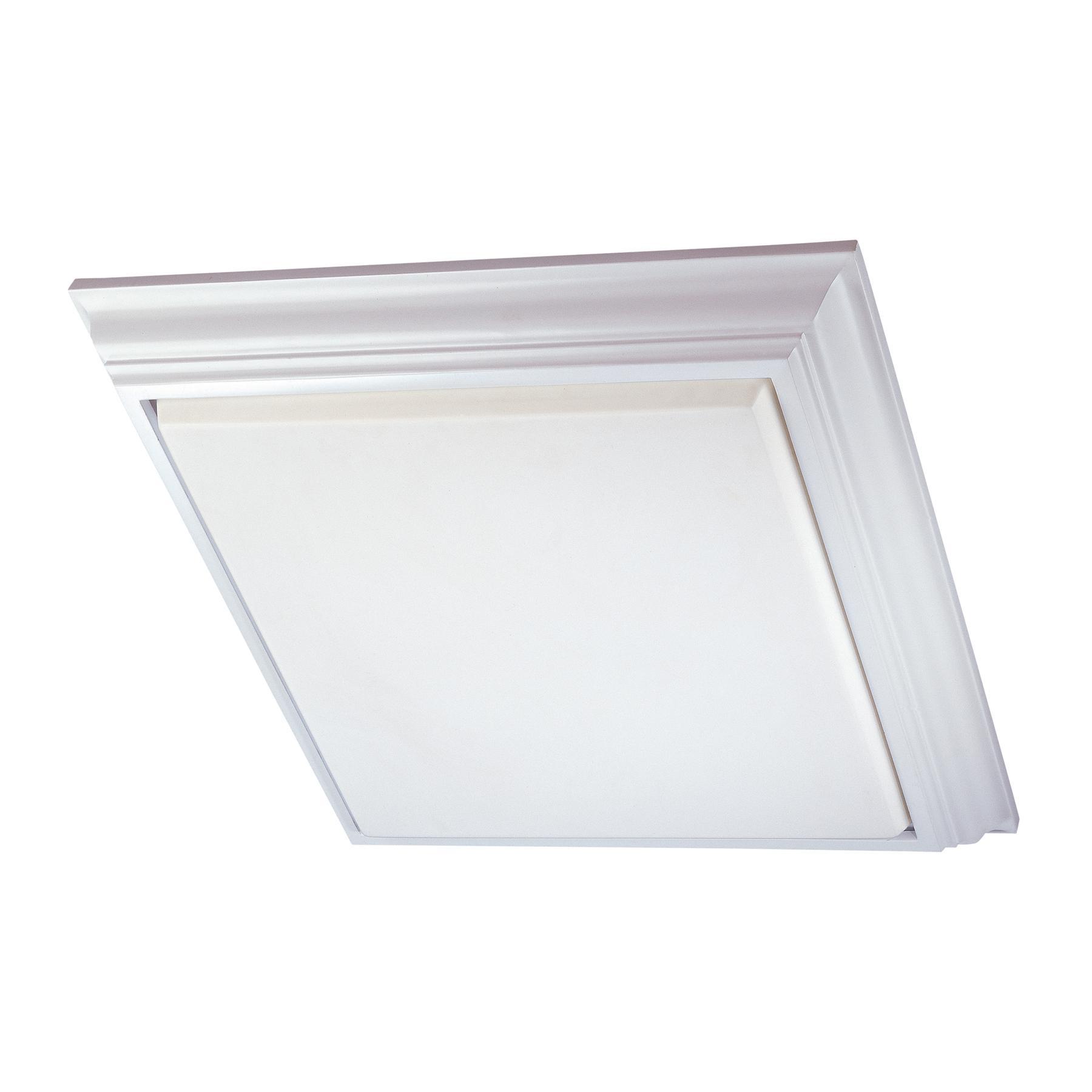 Square Fluorescent Kitchen Ceiling Light Maribo - Flush fluorescent kitchen ceiling lights