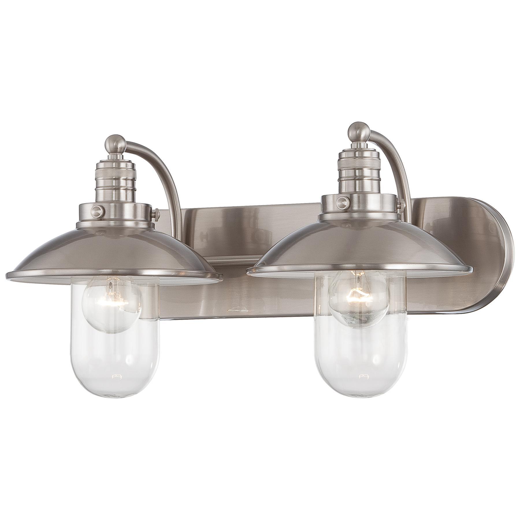 Downtown Edison Shade Bathroom Vanity Light By Minka Lavery - Minka lavery bathroom mirrors