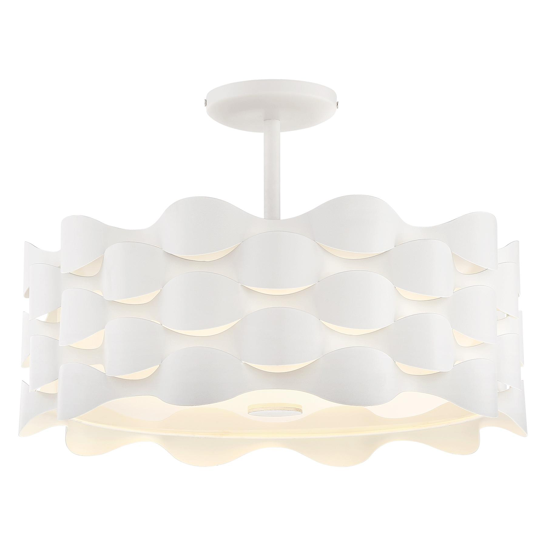 Beautiful Coastal Current Semi Flush Ceiling Light By George Kovacs | P1302 655 L