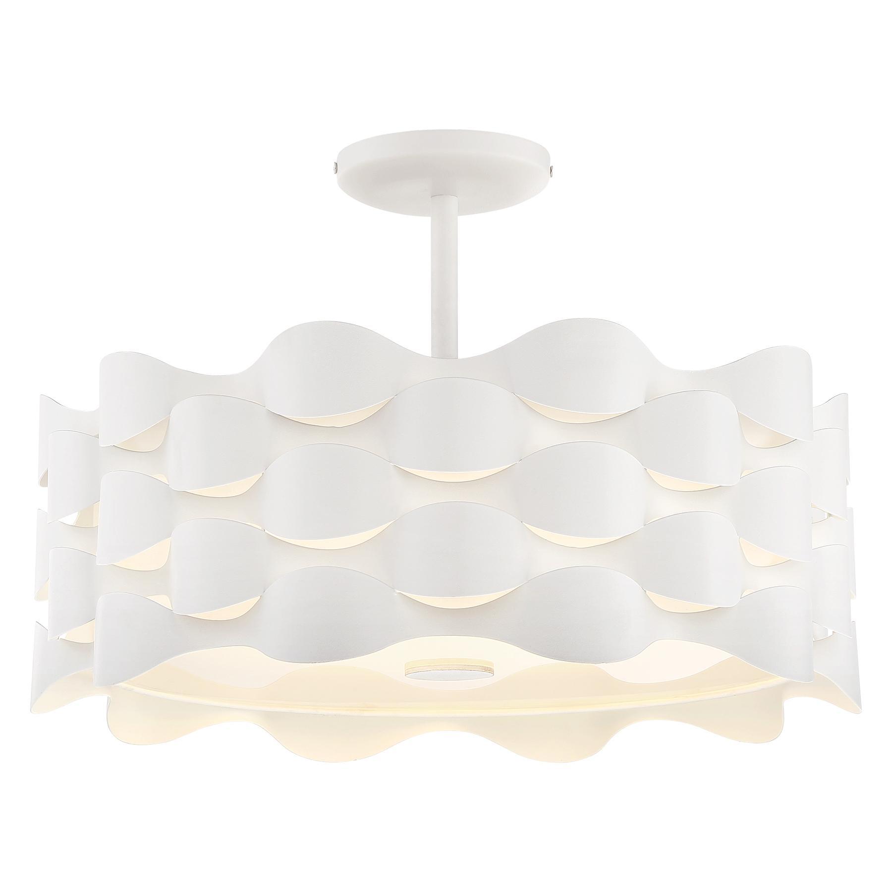 george kovacs 475 coastal current semi flush ceiling light - George Kovacs Lighting