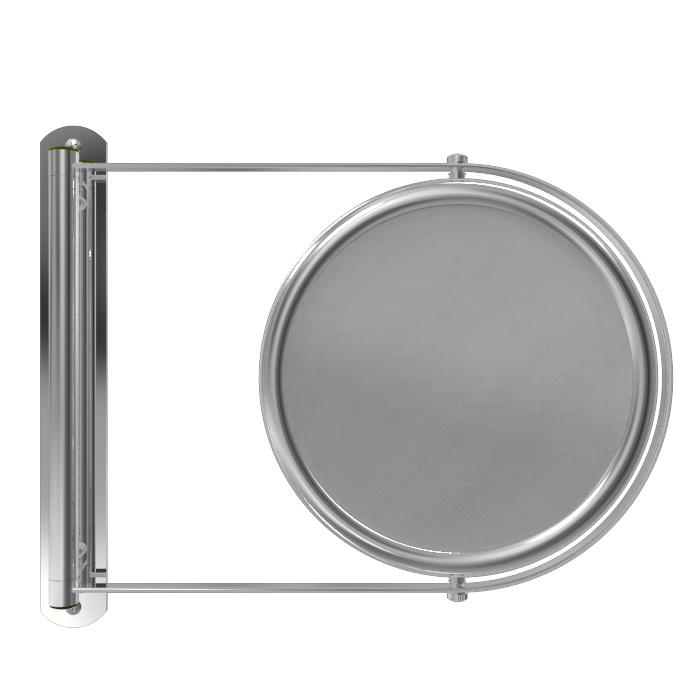 Chrome Wall Mirror out wall mirrorremcraft lighting | e3-x chrome