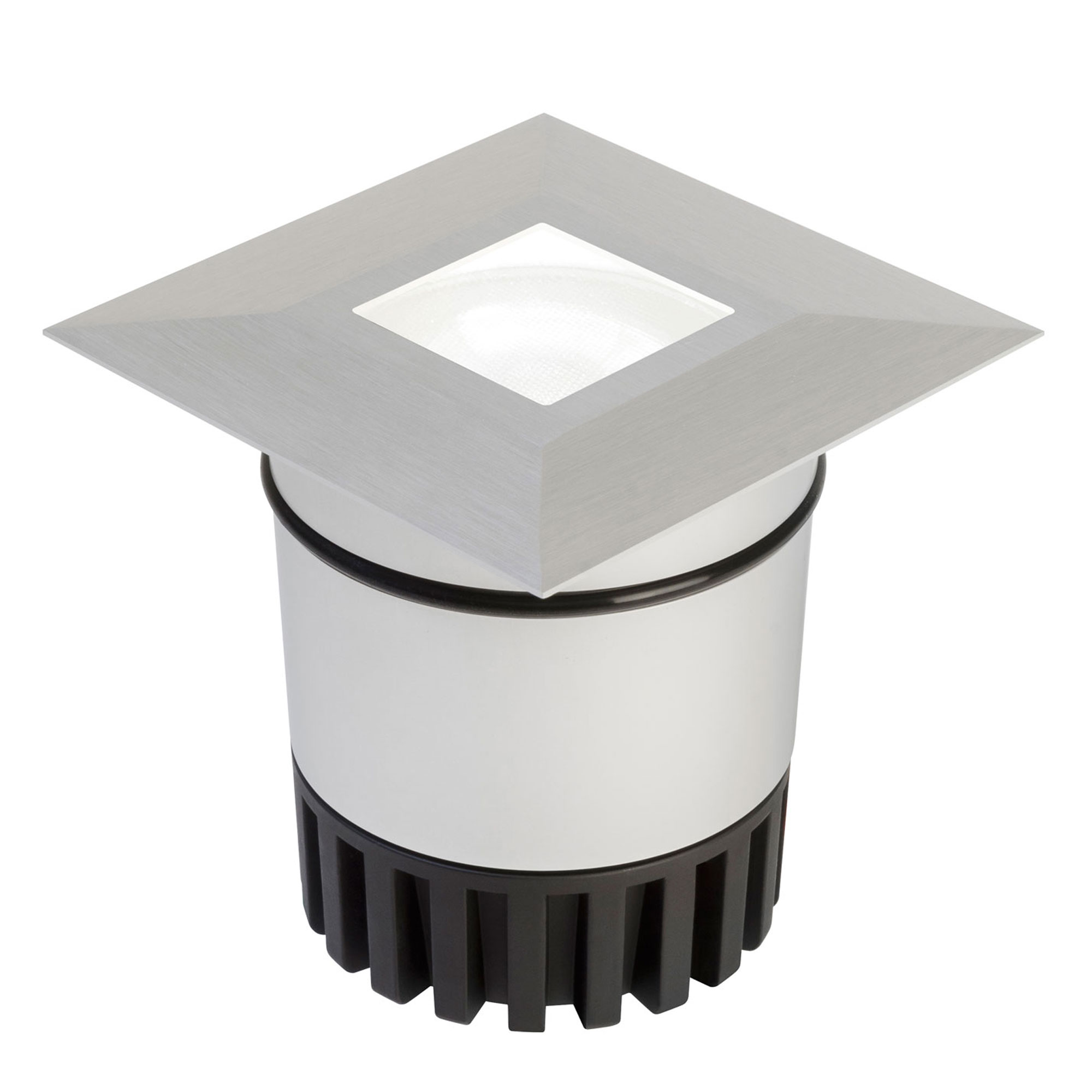 Sun3 square led recessed uplight steplight by pureedge lighting