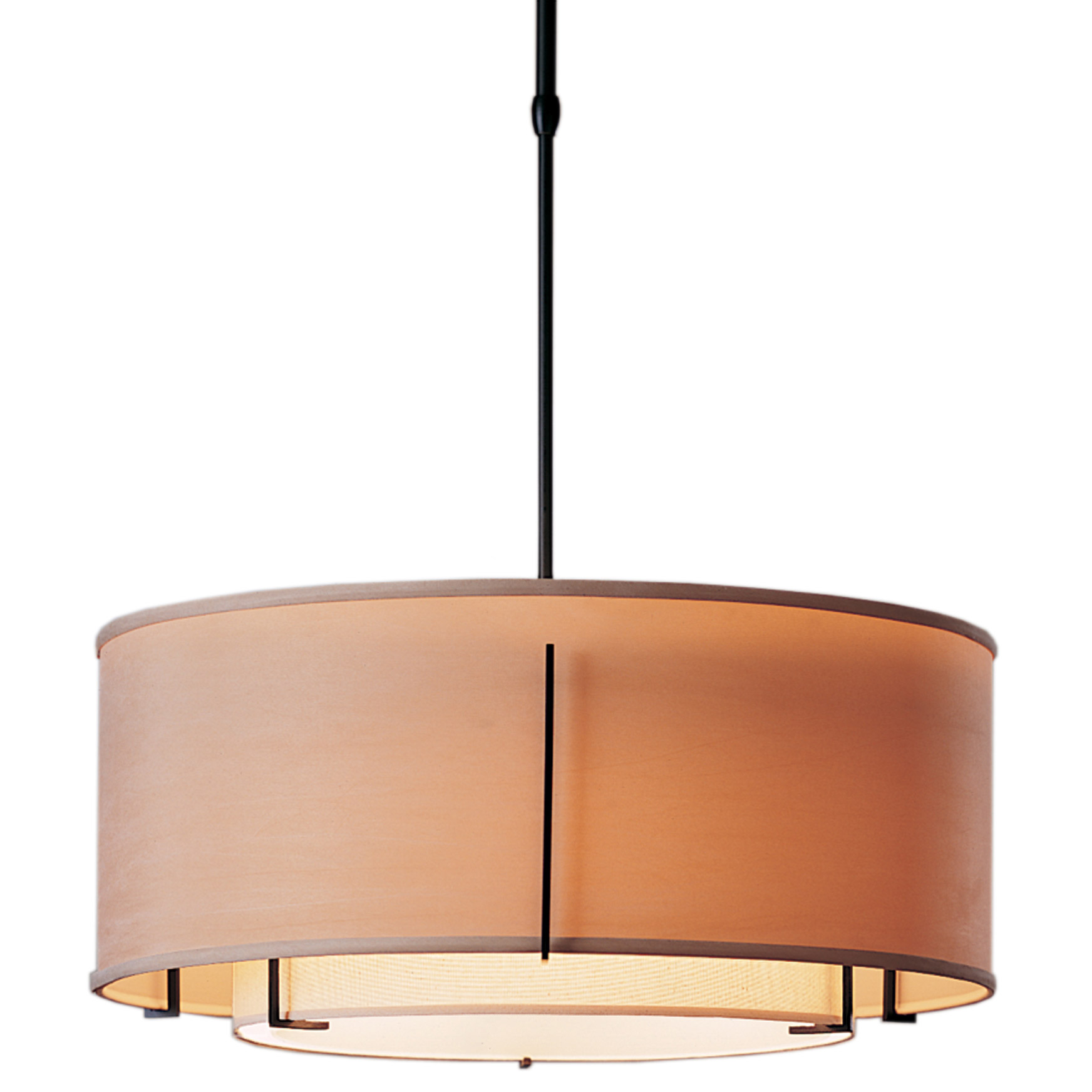 exos round double shade pendant by hubbardton forge 139605 1147