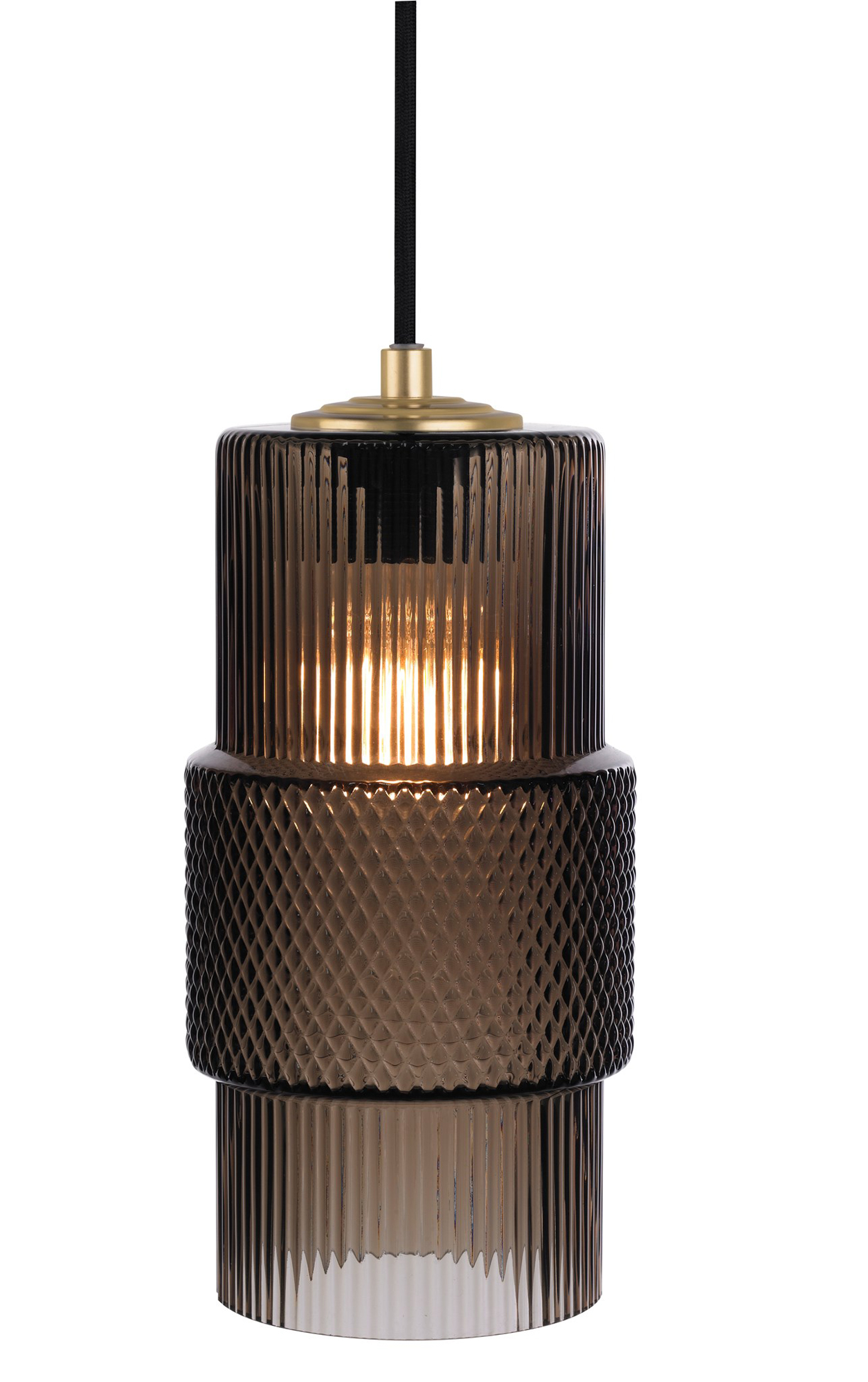 pendant product cylinder light black ariana amber cord finish cloth glass designer en matte