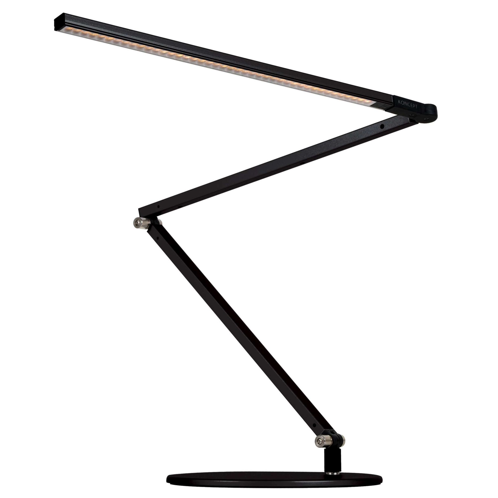 Delightful Z Bar LED Desk Lamp By Koncept Lighting | AR3000 CD MBK DSK