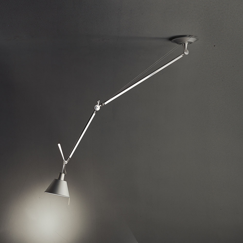 Off Center Suspension with Aluminum Shade by Artemide | TOL1020 for Artemide Tolomeo Ceiling  110yll